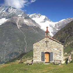 Alpe Tasch, Taschalp ed il rifugio Taschhutte